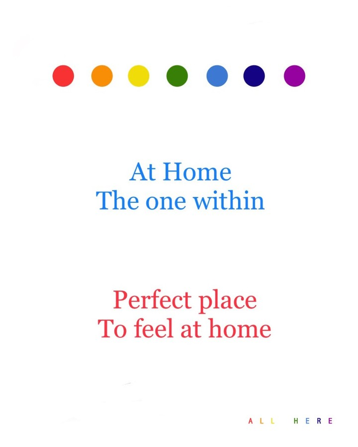 At Home The one within Perfect place To feel at home  - Meditation quotes - All Here By Erkin Bek