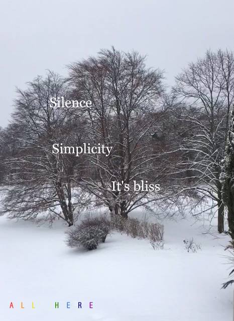 Silence Simplicity it's bliss - Meditation quotes - All Here By Erkin Bek